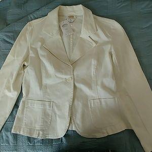 Talbots white jacket